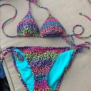Victoria secret rainbow cheetah bikini